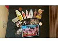 Cosmetics, bath and hair job lot