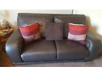 DFS Leather 3 piece suite. 3+2+1 seaters