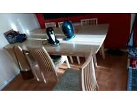 Large table and 7 chairs