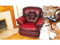 2 RED ARMCHAIRS FOR SALE