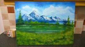 "Landscape oil painting 18"" X 24"" original artwork"