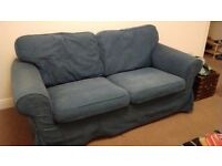 Ikea Ektorp blue 2 seater couch