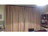 Pencil pleat curtains suitable for French doors/wide, tall windows.