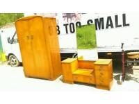 Vintage Austin suite 2 piece bedroom set wardrobe and dressing table