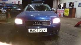 I'm selling my Audi a3 s line tdi 2004. The car has 125000 miles s line kit lovely car for sale