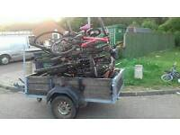 Trailer and 10 biked