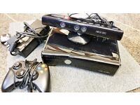 XBOX 360 Slim 250GB with Kinect Sensor and 1 x Pad
