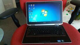 """dell core i7 LATITUDE E6320 LAPTOP 8GB ram, 13.3"""" screen, 300GB HDD"""