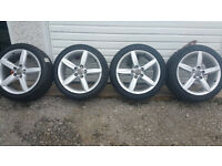 Audi GENUINE 18'' alloy wheels + 4 x tyres 245 40 18