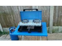 Campgaz double stove and grill.
