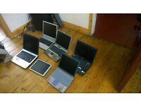 5 old laptops