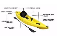 BLUEFIN SWIFT SINGLE KAYAKS ONLY £270.00, INCLUDING SEATS AND PADDLES