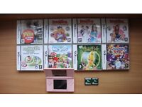 Nintendo DS, with 10 Nintendo DS games