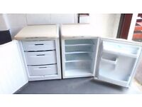 hotpoint under the counter matching fridge and freezer