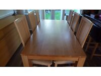 Dining Table and six chairs and sideboard to match(Arighi Bianchi) £700 all separately £400 each