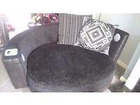 DFS quiz cuddle sofa with speakers