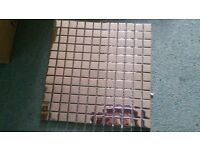 Silver Glass Mosaic Wall Tiles