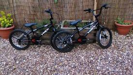 Two hood alley bikes