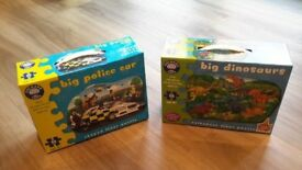 Orchard Big police car and big dinosaur jigsaw