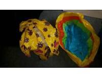 Kids pool & A Rain coat