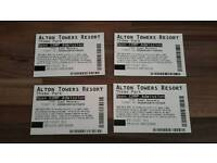 ALTON TOWERS open dated tickets