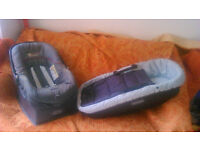 Infant car seat and carrycot