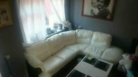 DFS Sofa white Leather