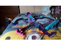 plastic nerf rebbelle bow and cross bow toys