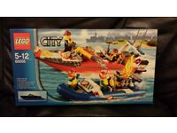 Lego 60005. speed boat fire Launch. 2013. retired. new unused