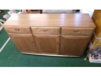 Ercol Windsor three drawer sideboard in excellent condition - not vintage