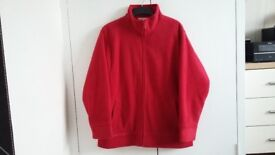 Ladies red zip up fleece fully lined size 14-16 excellent condition