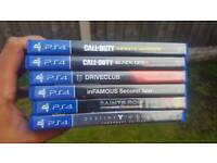PS4 Games open to offers