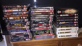 WWE dvds, mixed. See photo