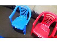 Children/Kids Plastic chairs in good condition