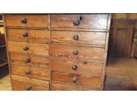 Antique Pine 12 drawer chest