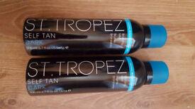 St Tropez Self Tan Dark Bronzing Spray 200ml x2 both new