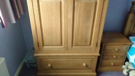 Solid pine wardrobe for sale