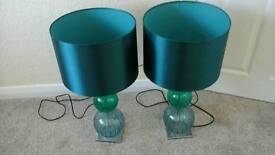 TWO NEXT GREEN LAMPS