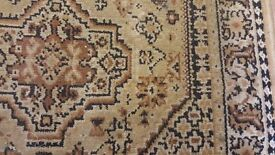 Brown Patterned Runner Rug in Fair Good Condition