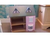 FREE wooden doll house with furniture