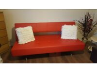 Pisa Red sofa bed from Dwell (like brand new)