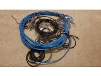 30 Ethernet Network Cables in different lengths