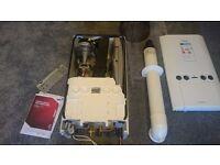 Ideal Std Logic 30+ Gas combi boiler, 24KW 12 months old as new, flue, paperwork, receipts