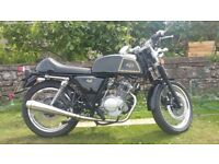 AJS Cadwell 125cc Cafe Racer 1000 mls on Clock Black