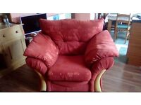 Sofa and 2 arm chairs teracotta, no smokers or pets good condition need quick sale