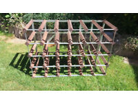 Large Sturdy Wine Rack Wooden and Metal