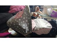 Custom made carseat covers and pram liners and foot muffs