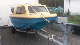 Fishing Boat CJR 14 with Trailer and 25HP Outboard