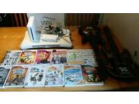 nintendo wii plus games and guitars