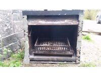Fireplace and grate, ideal for bothy, cottage or workshop
